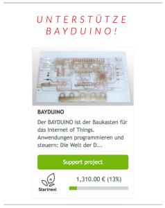 BAYDUINO Startnext Kampagne